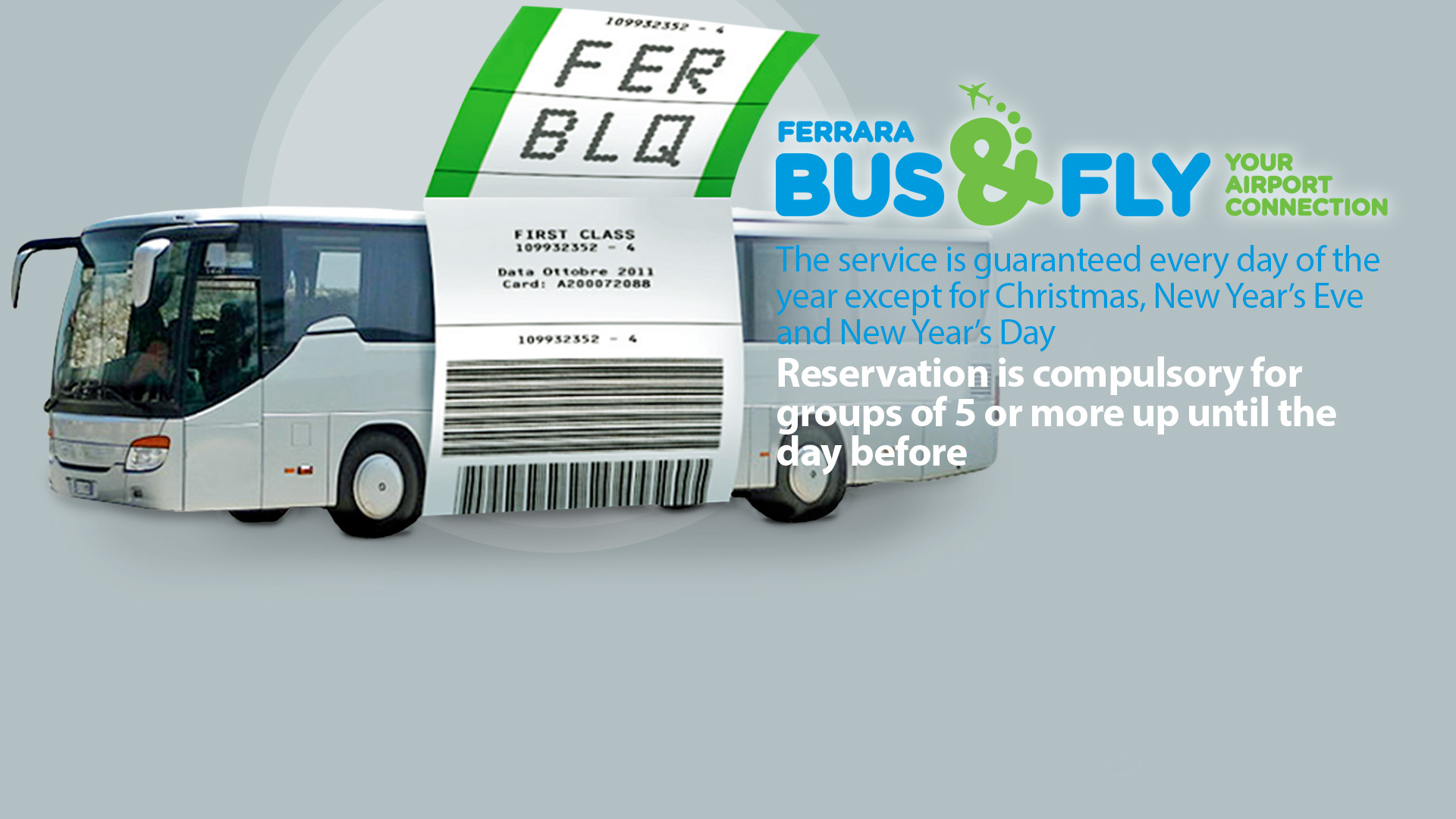 Bus Fly Your Airport Connection Ferraras Shuttle tofrom